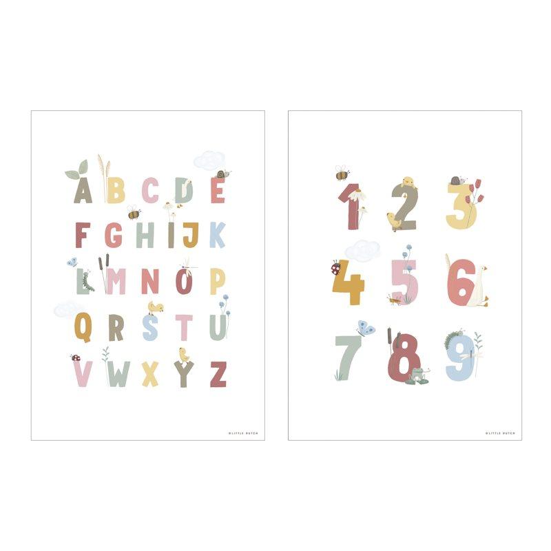 Poster A3 2 bedruckte Seiten Little Goose / kleine Gans ABC rosa