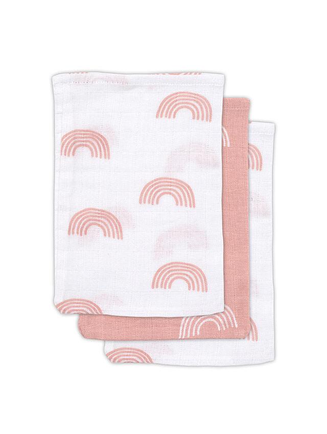 Waschlappen Regenbogen rosa 3er Set