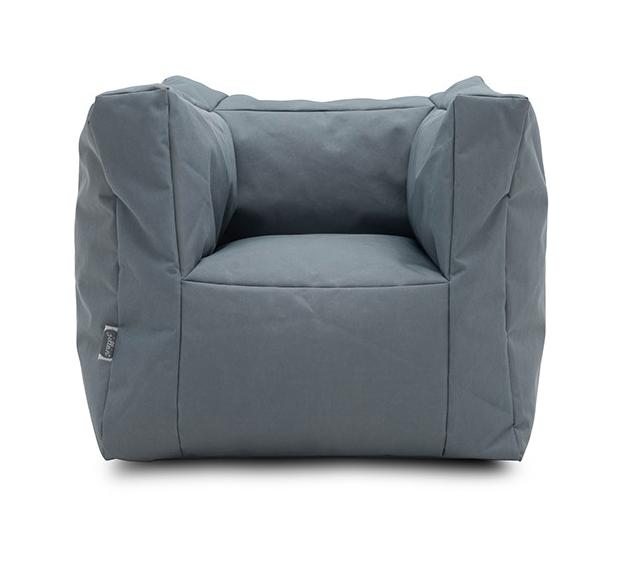 Kindersessel Sitzsack grau