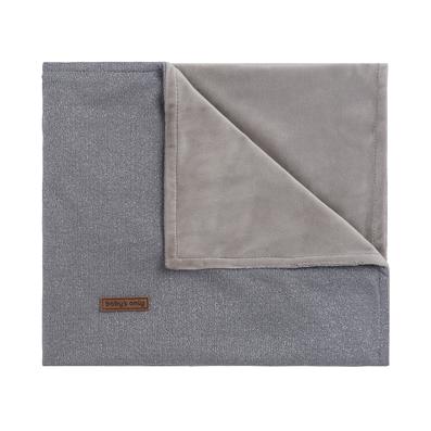 Kinderdecke Sparkle Glitzer silber grau melee (100x135 cm)