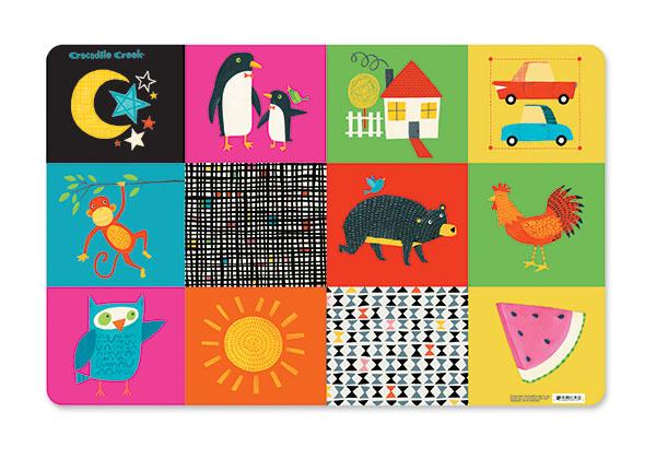 Platzset Tischset bunte Motive 28 x 33,5 cm