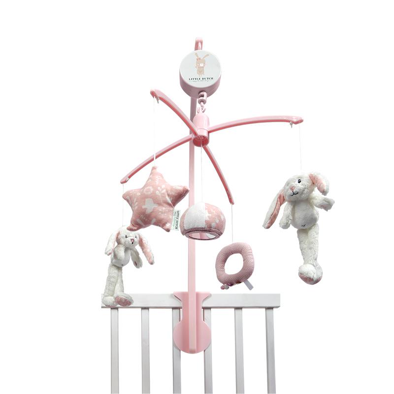 Mobile inkl. Spieluhr und Halter Hase Adventure rosa