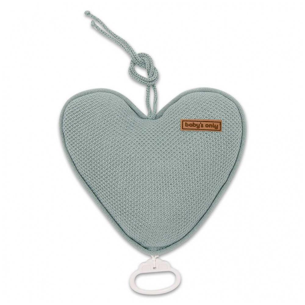 Spieluhr Herz Classic stonegreen