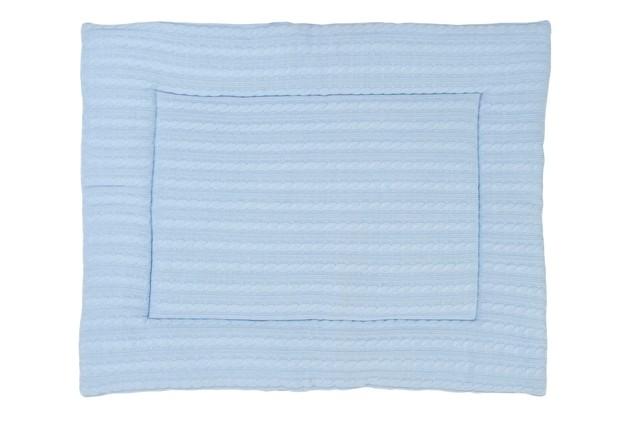 Laufgittereinlage Krabbeldecke Zopfstrick hellblau 80x100 cm
