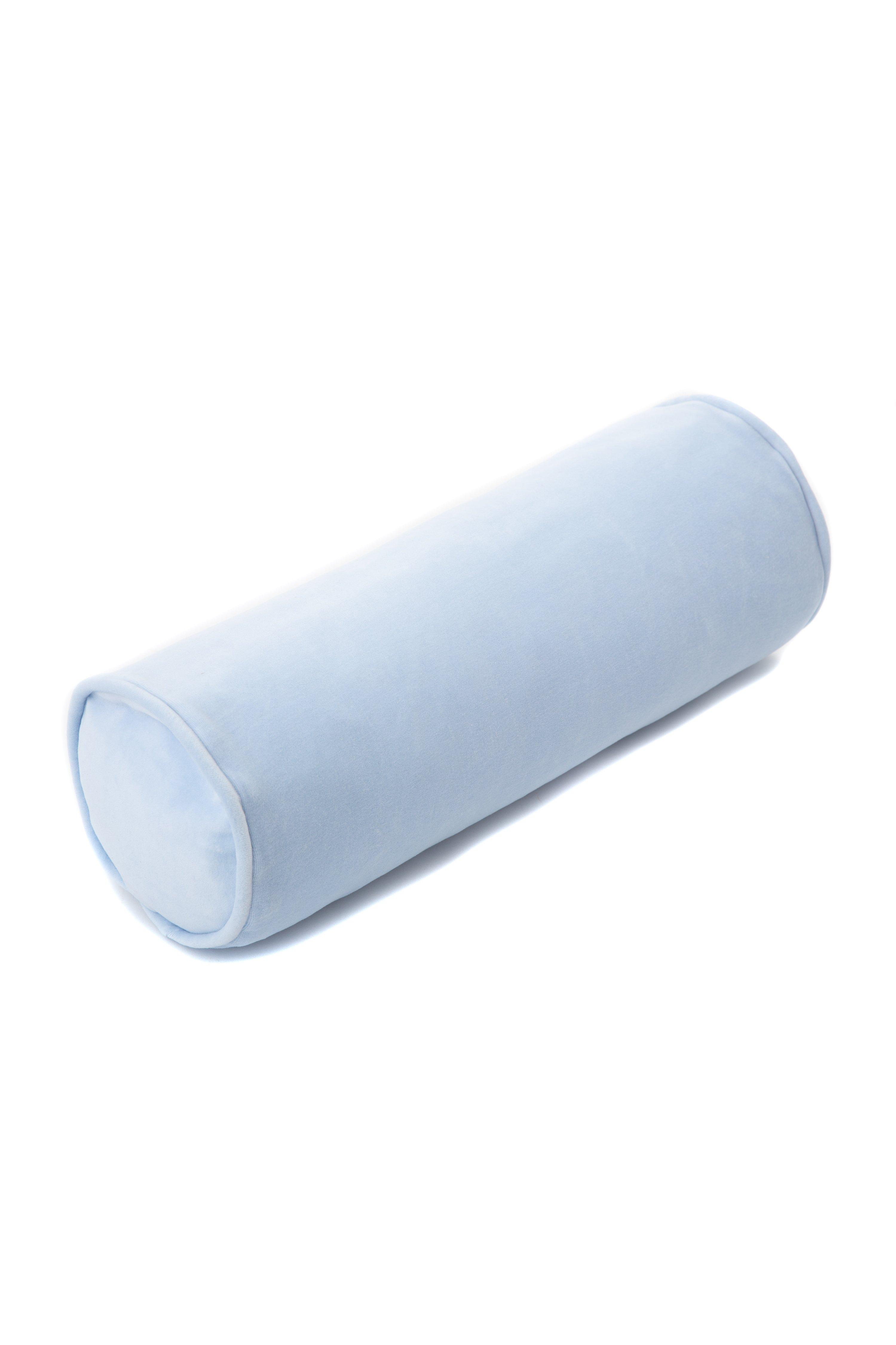 Samt Kissenrolle hellblau 60 cm ø20 cm