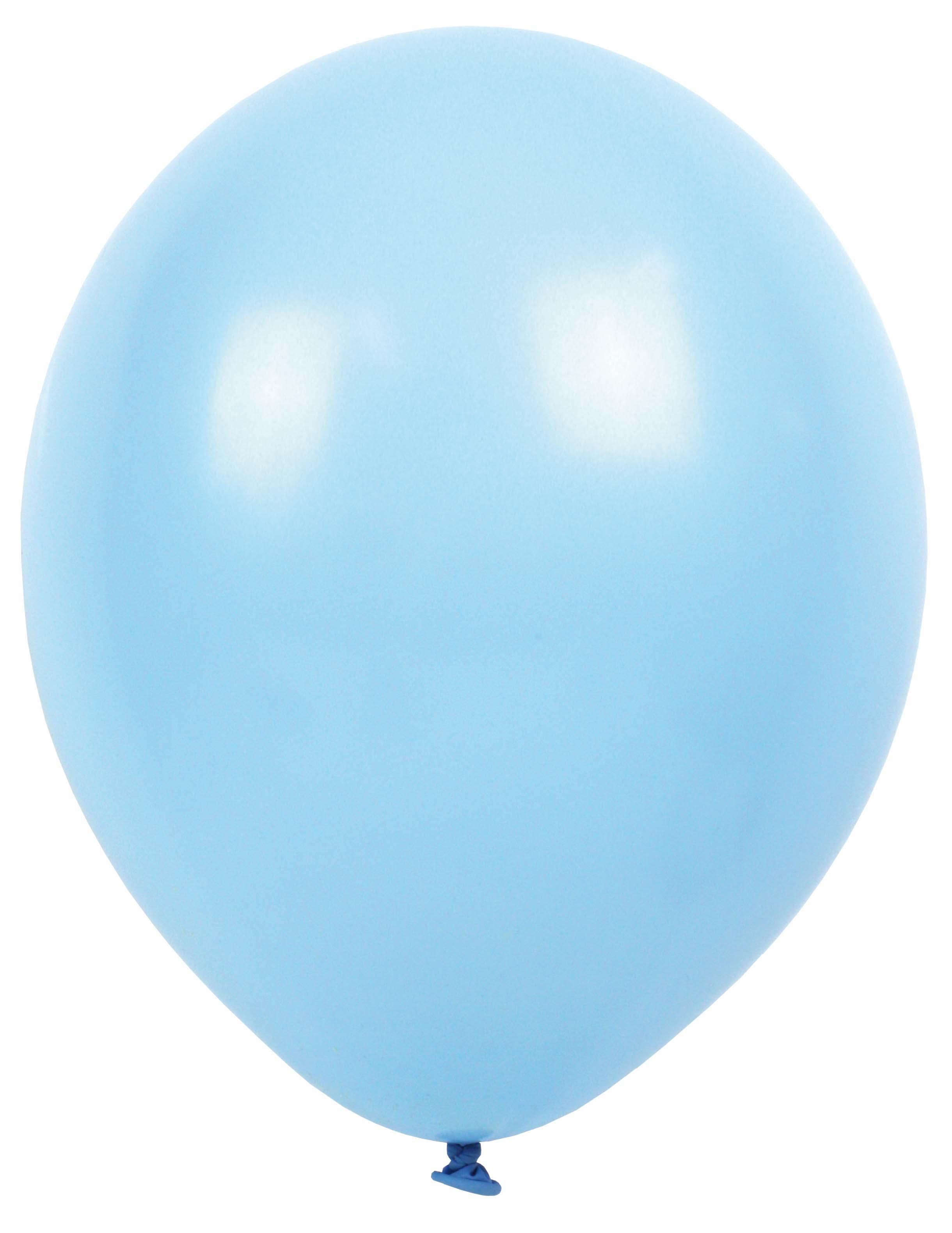 Luftballons blau grau weiß