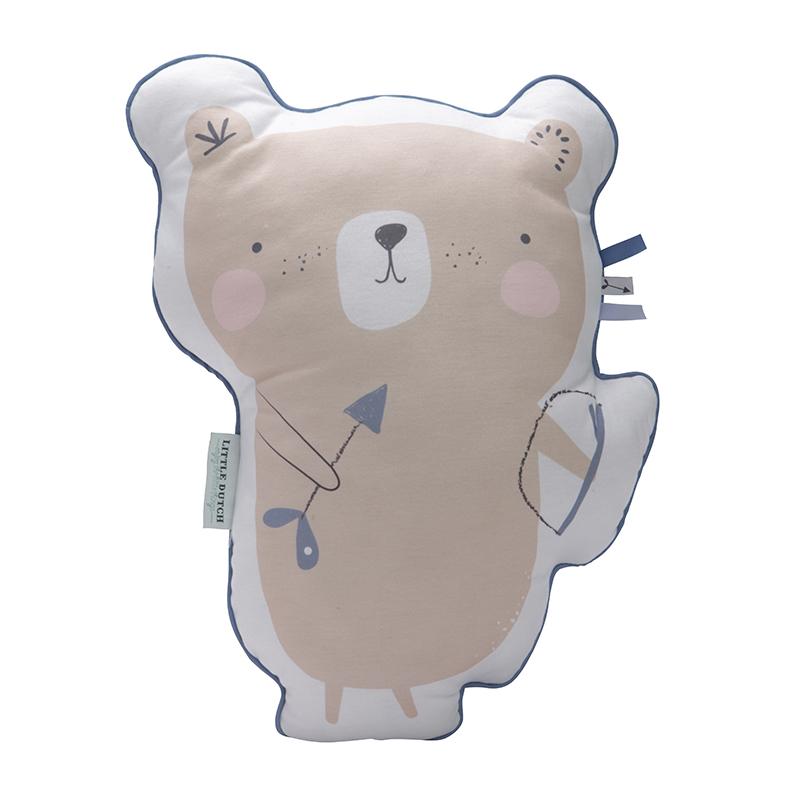Kissen Bär blau 45 cm