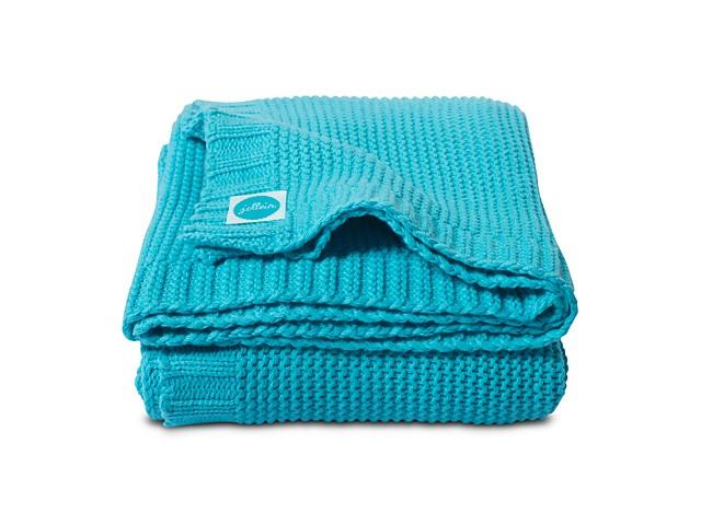 Babydecke Strickdecke Chunky Knit türkisblau (75x100 cm)