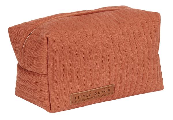 Pflegetasche Täschchen Etui für Unterwegs Pure rost orangerot