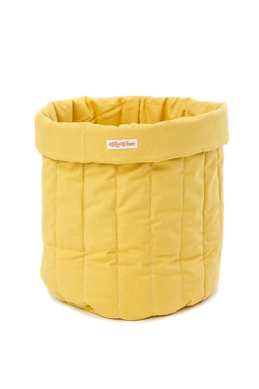 Stoff Aufbewahrungskorb gelb groß 55x40 cm