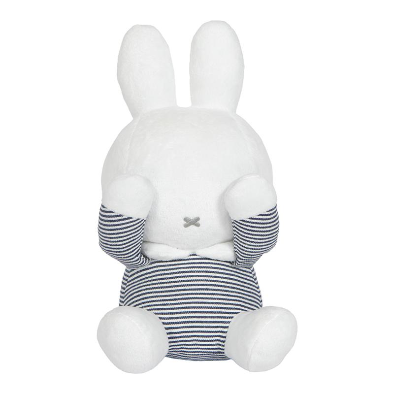 Miffy Hase ABC Guck-Guck Stofftier Kuscheltier gestreift weiß grau 28 cm