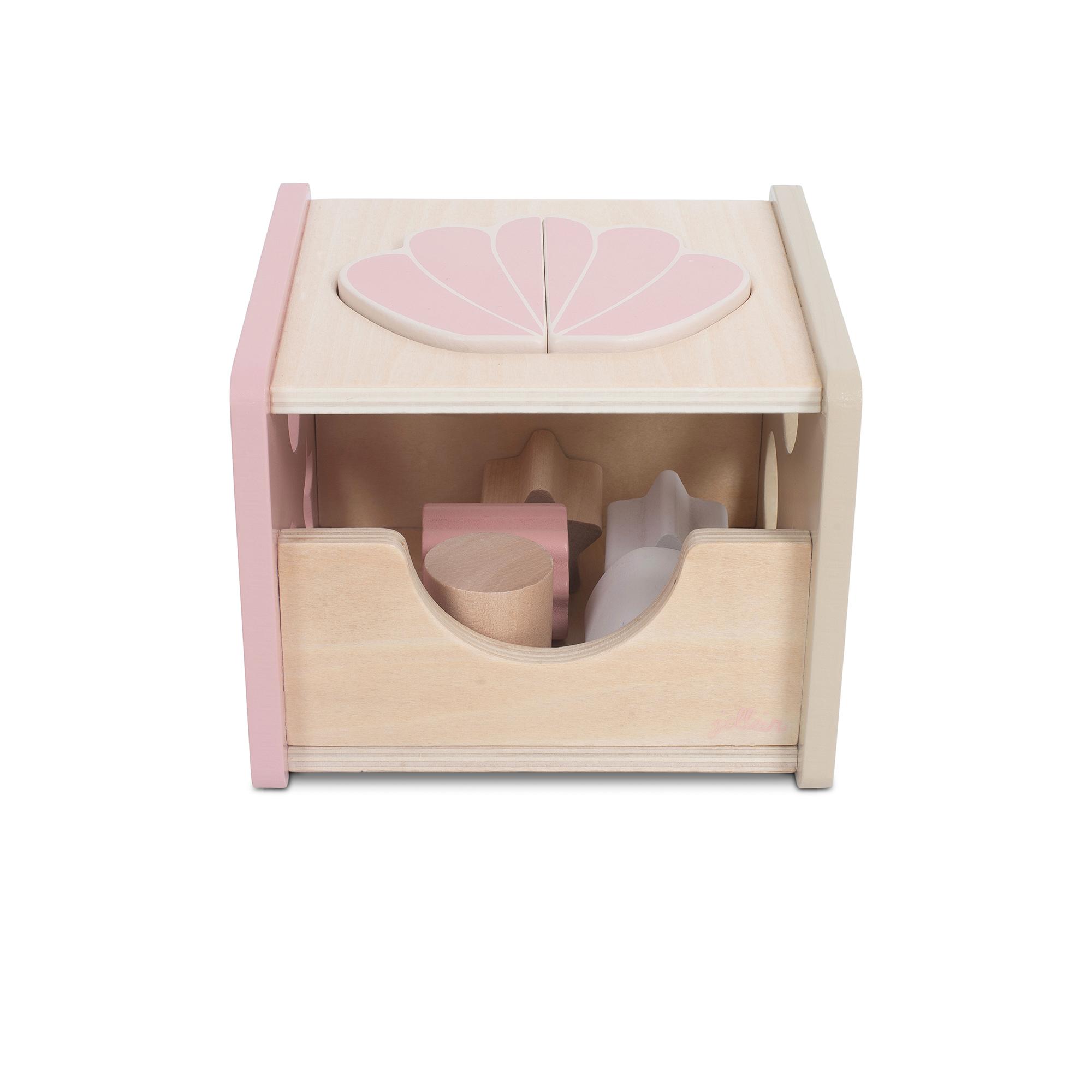 Holz Steckspiel Muschel rosa