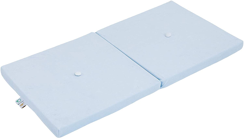 Samt Sitzkissen faltbare Spielmatte hellblau