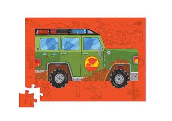 Puzzle auf Rädern Jeep 48 Teile
