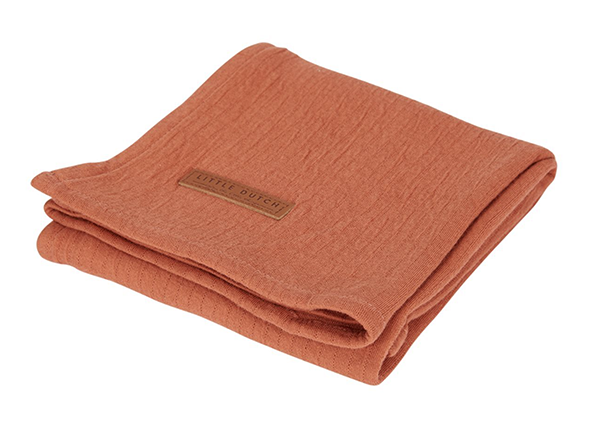 Musselin Swaddle Tuch / Pucktuch Pure rost (Gr. 120x120 cm)