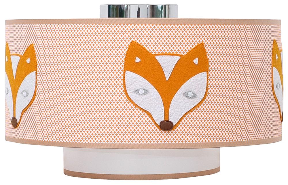 Deckenlampe orange Fuchs und Rabe