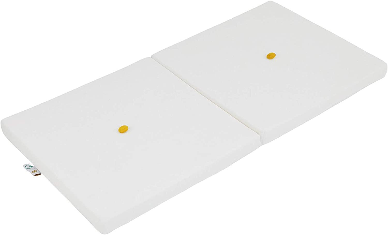 Samt Sitzkissen faltbare Spielmatte weiß