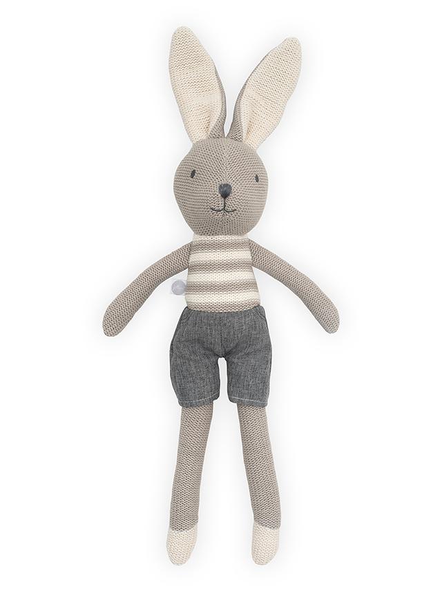 Jollein Stofftier Kuscheltier Hase Kaninchen Junge Joey grau 50 cm