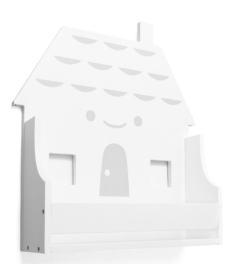 Wandregal Haus weiß
