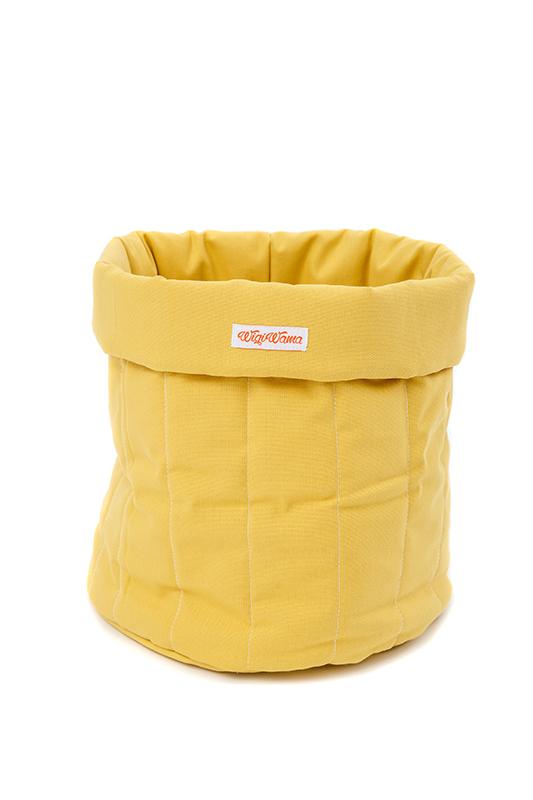 Stoff Aufbewahrungskorb gelb klein 45x35cm