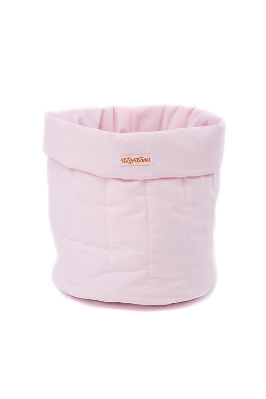 Stoff Aufbewahrungskorb rosa klein 45x35cm