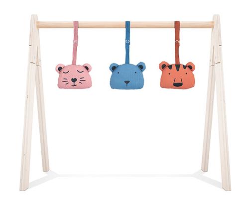 Jollein Anhänger für Spielbogen Baby Gym Animal Club Bären