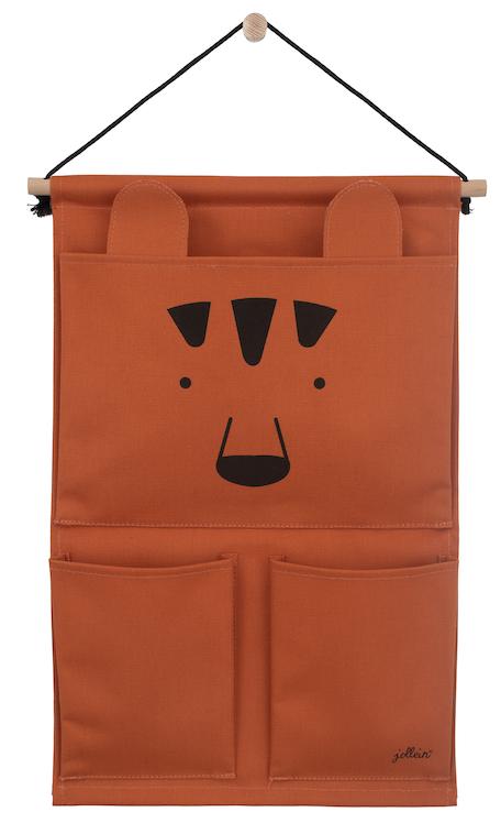 Jollein Aufbewahrungstasche für die Wand Wandorganizer Animal Club Bär rostrot orange