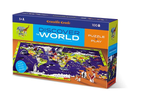 Puzzle Welt mit Figuren 100 Teile