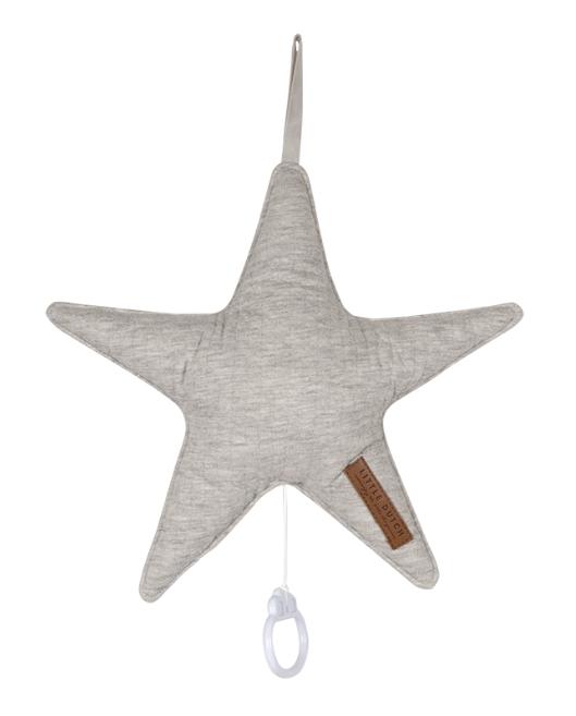 Spieluhr Stern Pure grau