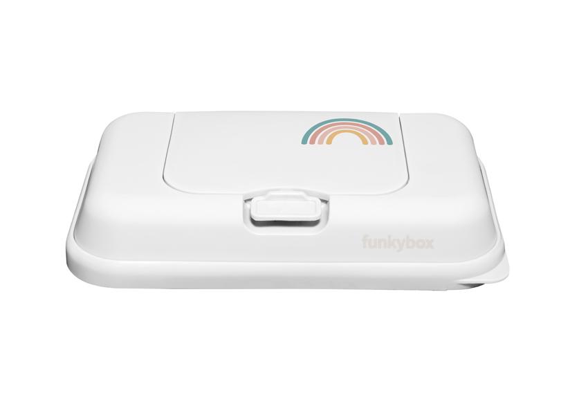 Feuchttücher Aufbewahrungsbox toGo Regenbogen weiß