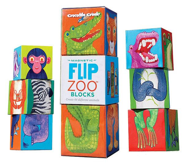 Magnet Würfel Puzzle Zoo Regenwald Tiere