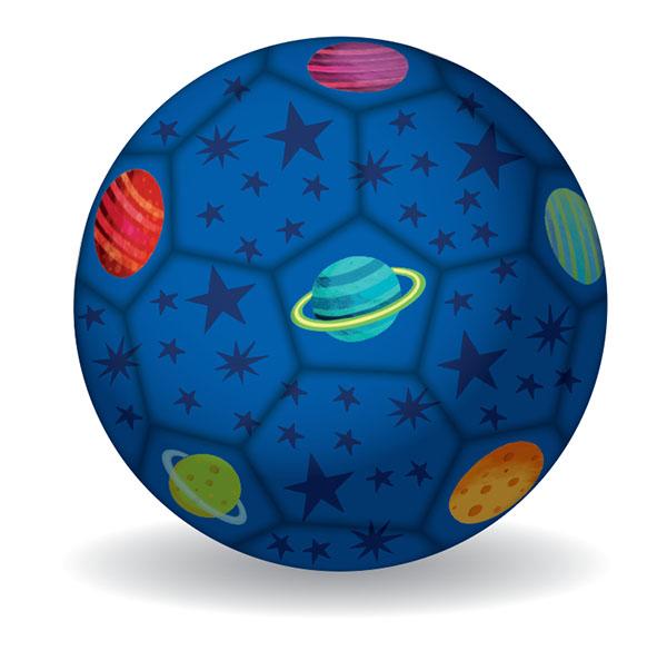 Fußball Weltraum dunkelblau Ø 14 cm