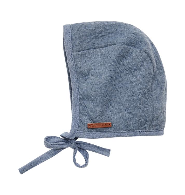 Baby Mütze Pure blau (Gr. 0-3 Monate)