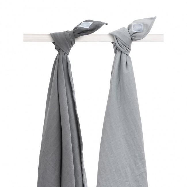 Mulltücher grau 115x115 cm 2er Pack