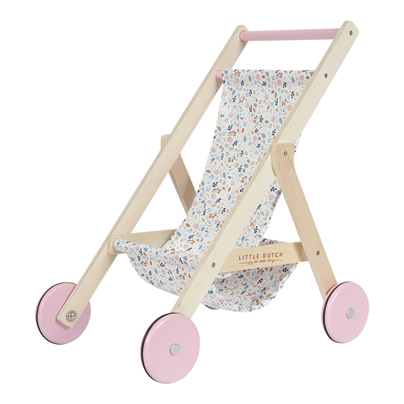 Holz Puppenbuggy Spring Flowers