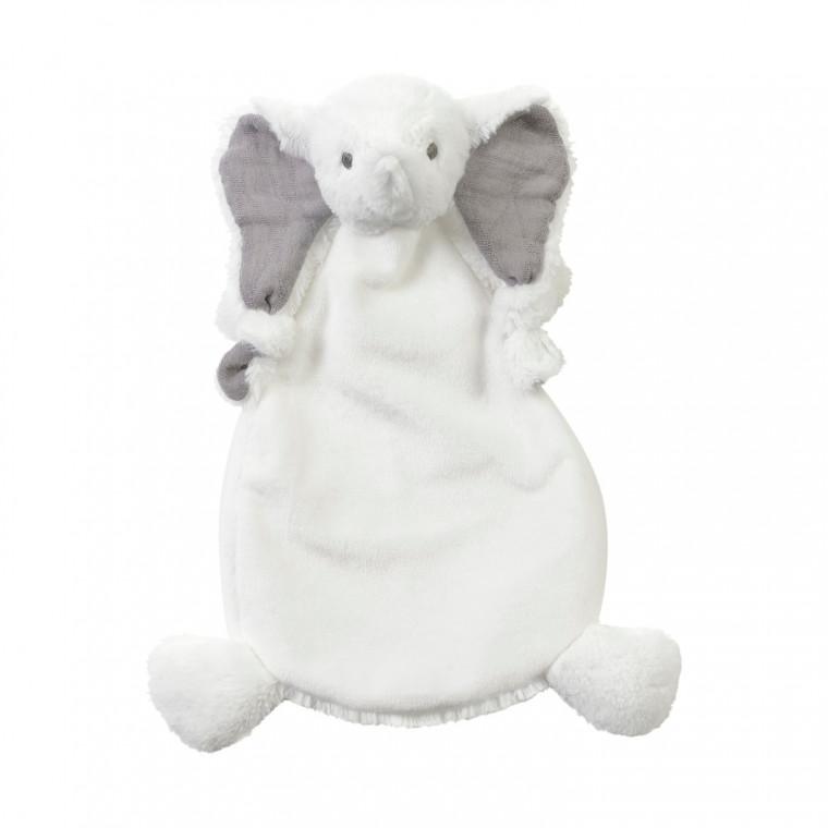 Kuscheltuch Schmusetuch Elefant weiß 25 cm