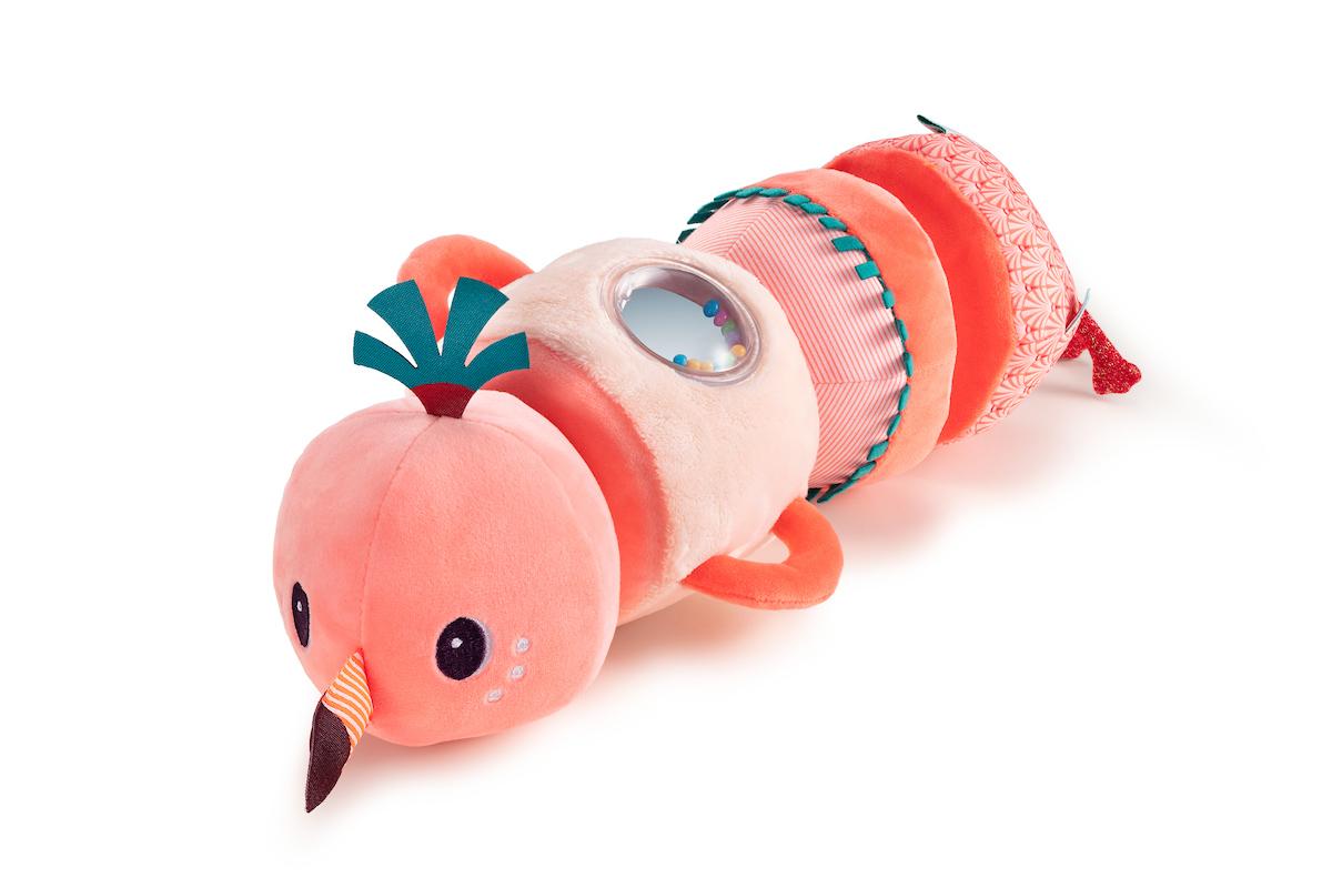 Aktivitätsspielzeug Geräuscherolle Anais Flamingo