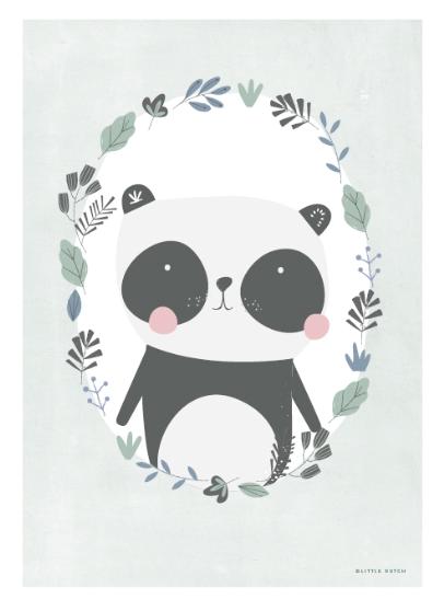 Little Dutch Poster doppelseitig bedruckt Panda A3