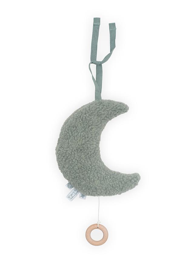 Jollein Spieluhr Mond Teddyplüsch stonegreen
