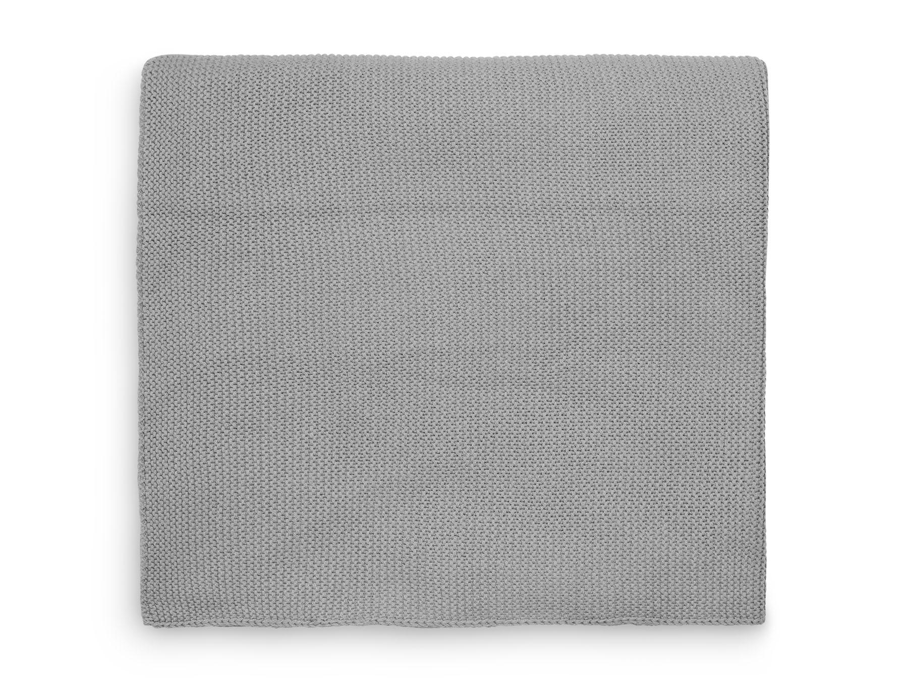 Babydecke Strickdecke Basic Knit grau (75x100 cm)