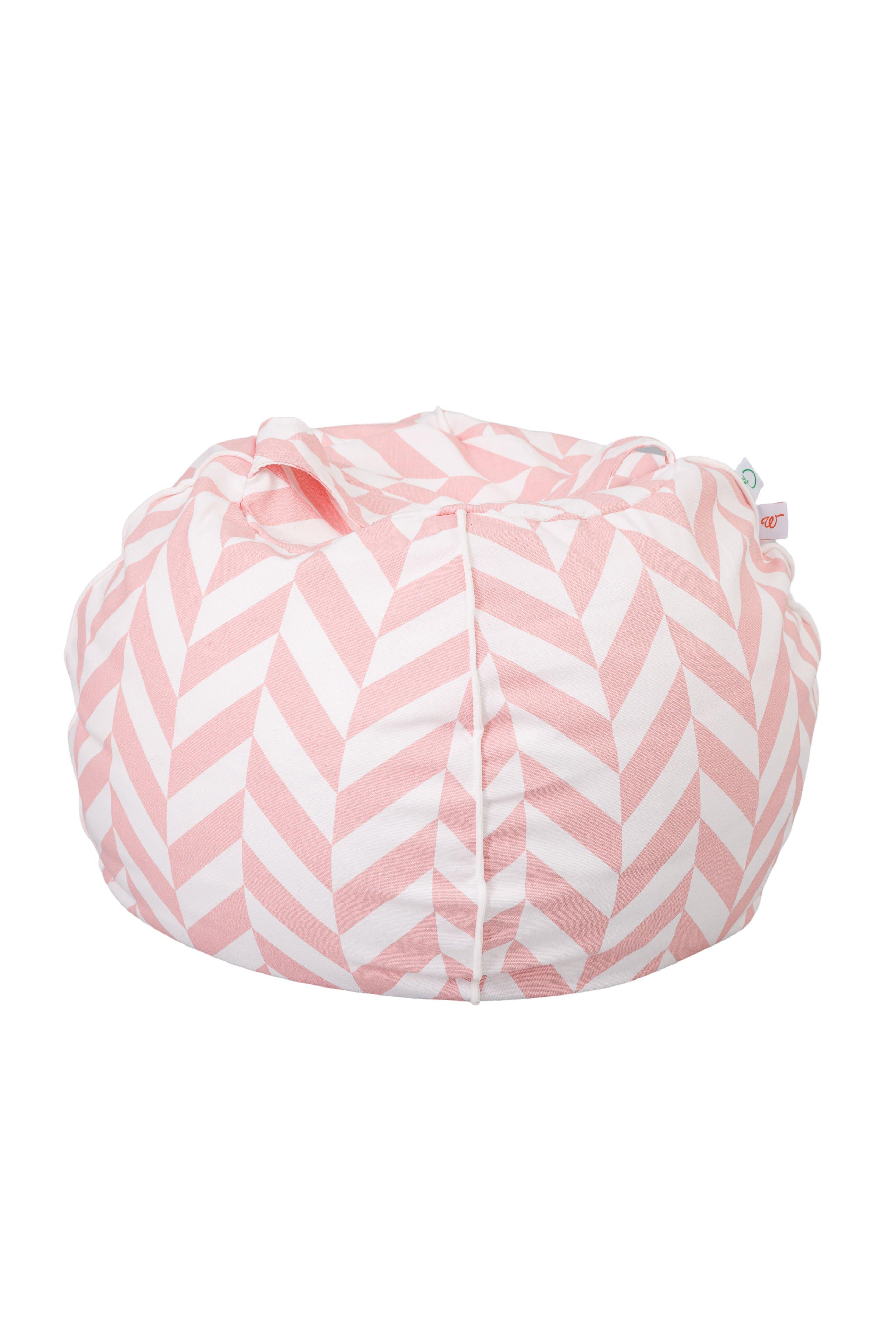 Sitzsack Bubble Zickzack rosa weiß 70x45 cm