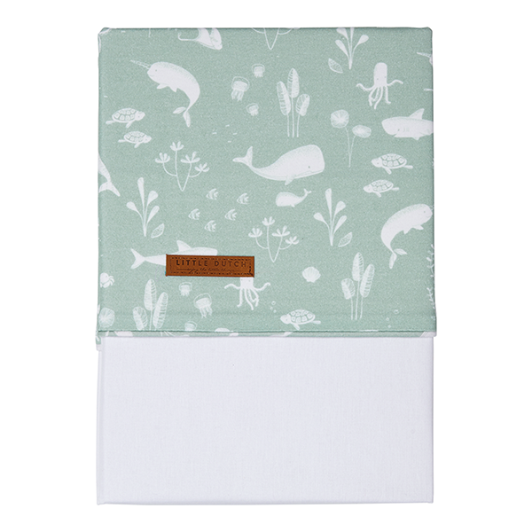 Kinderbettlaken Ocean mint (Gr. 110x140 cm)