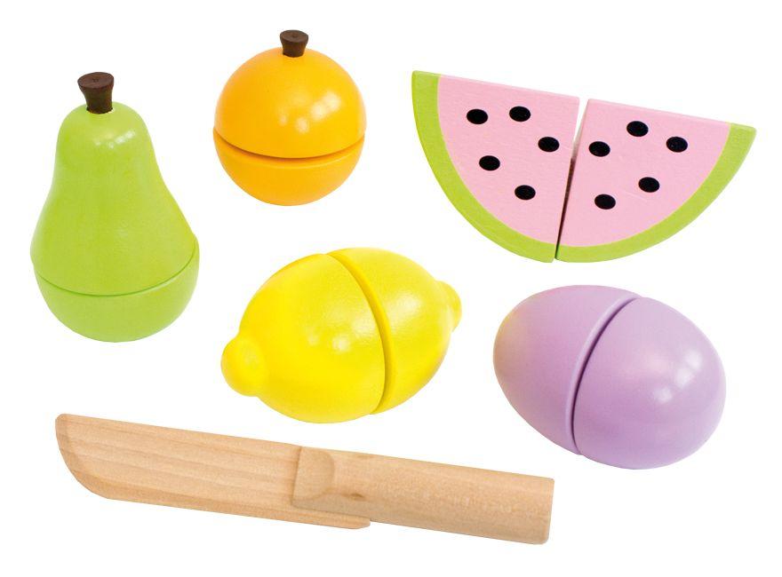 Holz Früchte Obst zum schneiden