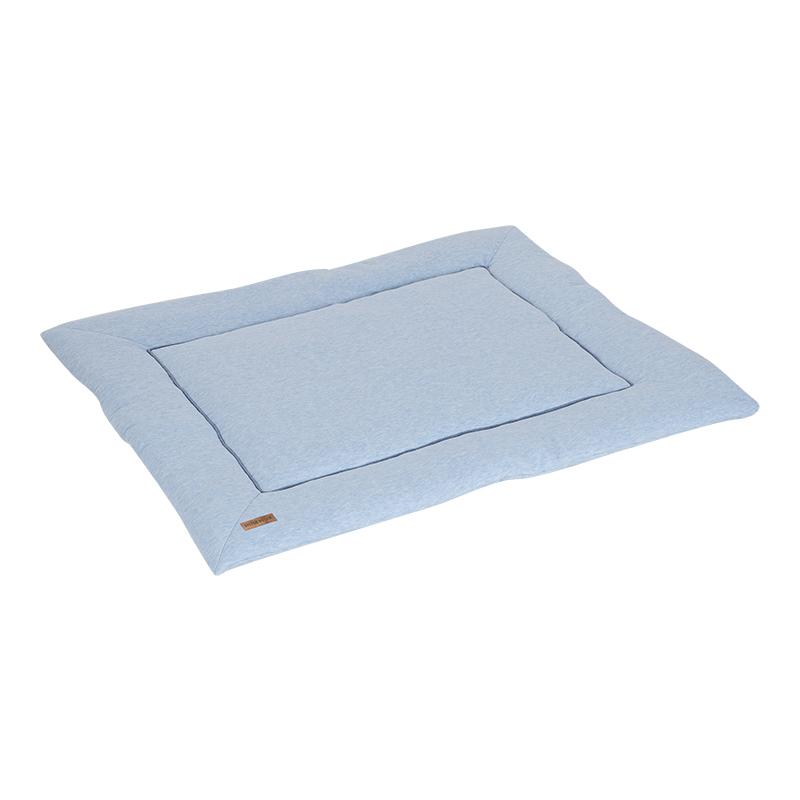 Laufgittereinlage Krabbeldecke Jersey Melange blau 80x100 cm