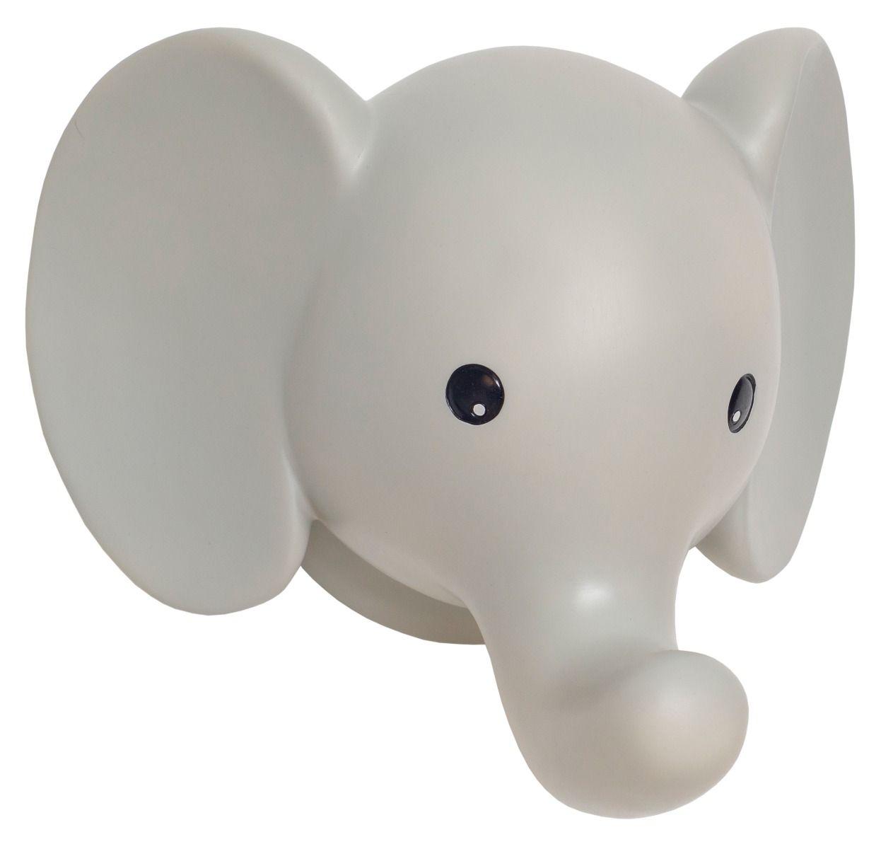 Nachtlicht Wandlampe Elefant grau