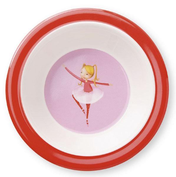 Melamin Schale Ballerina rosa rot