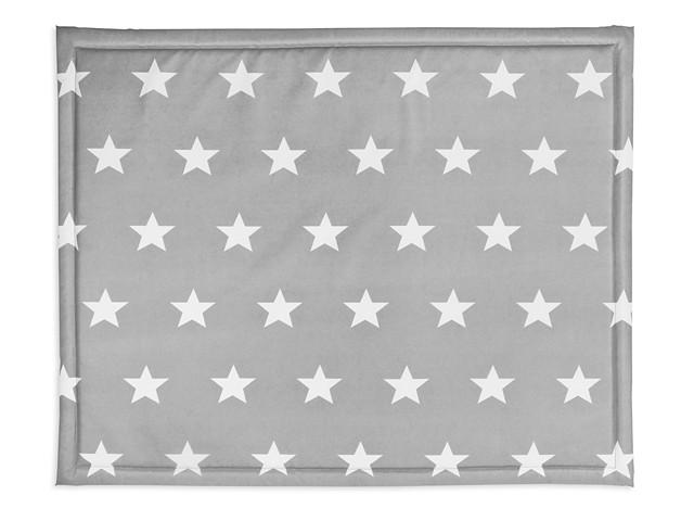 Laufgittereinlage Krabbeldecke Sterne anthrazit (80x100 cm)