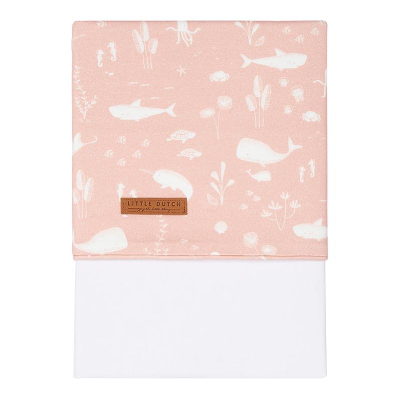 Babybettlaken Wiegenlaken Ocean rosa (Gr. 70x100 cm)