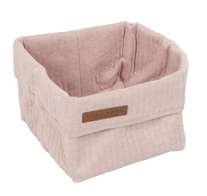 Wickeltischkörbchen Pure rosa klein