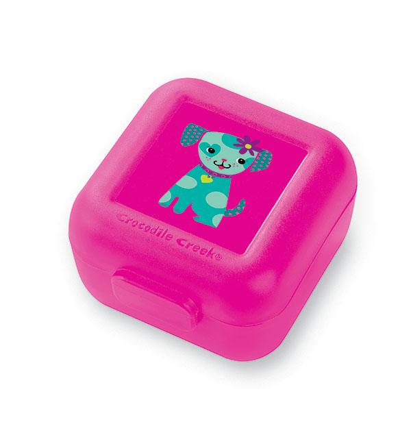 Snackbox 2er Hund pink